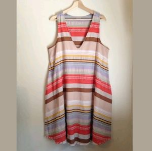 Anthropologie The Odells Striped Cody Dress Sz XL